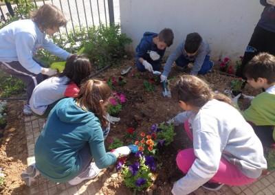 Οι μαθητές του Δημοτικού Σχολείου Ροδοτοπίου φυτεύουν τον προαύλιο χώρο. Let's do it Greece