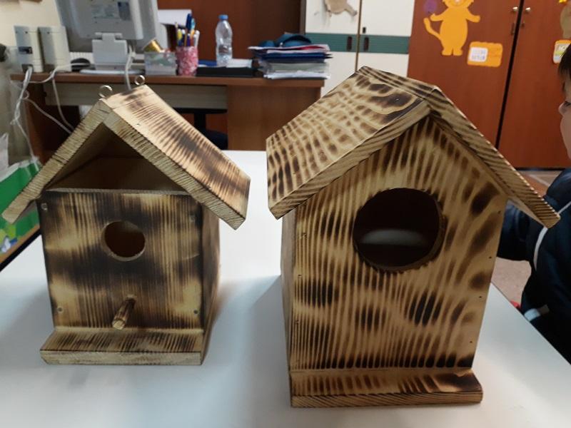 Καταφύγιο για μικρά πουλιά από μαθητές του Νηπιαγωγείου και του Δημοτικού σχολείου Μηλιάς
