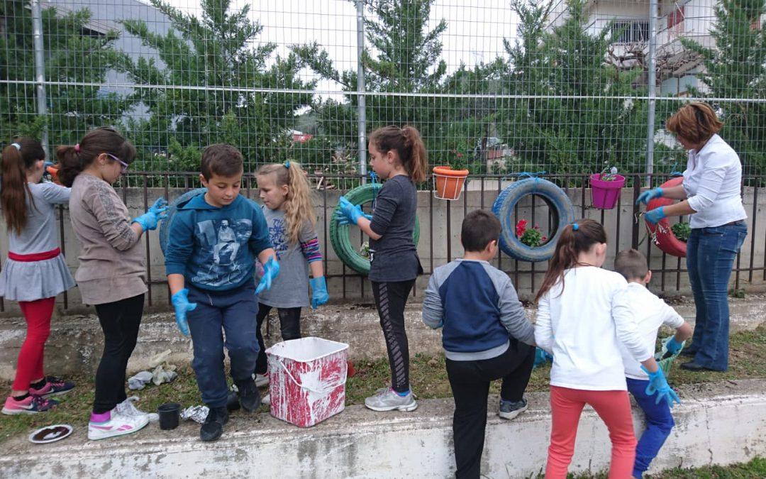 Το Δημοτικό Σχολείο Γιαννιτσοχωρίου ομορφαίνει την αυλή του σχολείου