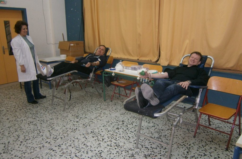 Εθελοντική Αιμοδοσία στο 12ο Δημοτικό Σχ. Αγρινίου